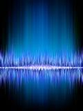 Sound waves oscillating on black.. Sound waves oscillating on black background. EPS 8 vector file included Stock Photo