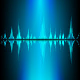 Sound waves oscillating on black background Royalty Free Stock Images