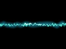Sound waves oscillating on black. EPS 10 Stock Photo