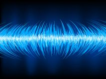 Sound waves oscillating on black. EPS 10 Royalty Free Stock Photo