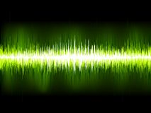 Sound waves oscillating on black. EPS 10 Stock Photos