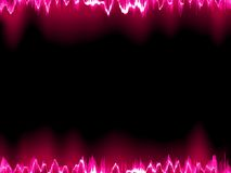 Sound waves oscillating on black. EPS 10 Stock Photography