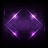 Sound waves oscillating dark purple light, Abstract technology background. Vector Royalty Free Stock Images