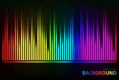 Sound waves oscillating glow colorful light Royalty Free Stock Photo