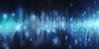 Free Sound Waves Oscillating Glow Light, Abstract Technology Background Royalty Free Stock Image - 169877566