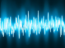 Sound waves oscillating glow light. EPS 8 Royalty Free Stock Photo