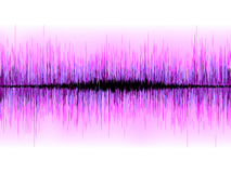 Sound waves oscillating on white background. EPS 8 Royalty Free Stock Photos