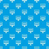 Sound waves pattern seamless blue. Sound waves pattern repeat seamless in blue color for any design. Vector geometric illustration Stock Photography