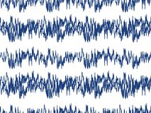 Sound waves seamless pattern. Audio technology endless background, musical pulse repeating texture. Modern geometric. Backdrop. Vector illustration Royalty Free Stock Photo