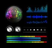 Sound waves set Stock Photos