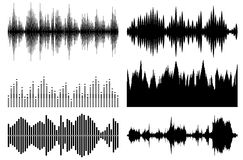 Sound waves set Stock Photo