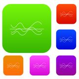 Sound waves set collection Stock Photo
