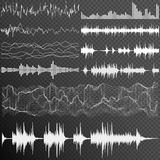 Sound waves set. EPS 10 Royalty Free Stock Images