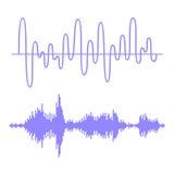 Sound Waves Set Stock Photo