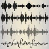 Sound Waves set Royalty Free Stock Image