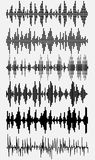 Sound waves set Stock Images