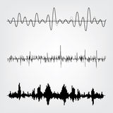 Sound waves set Stock Image