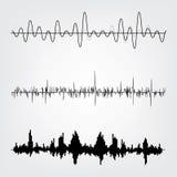 Sound waves set. Sound waves icon  set. Audio equalizer technology, pulse musical. Vector illustration Stock Image