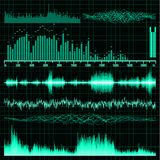 Sound waves set. Music background. EPS 8 Stock Images