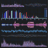 Sound waves set. Music background. EPS 8 Royalty Free Stock Photography