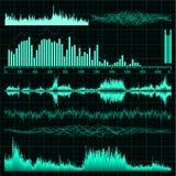 Sound waves set. Music background. EPS 8 Royalty Free Stock Photo