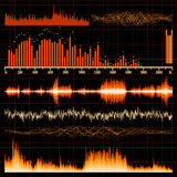 Sound waves set. Music background. EPS 10 Royalty Free Stock Photo