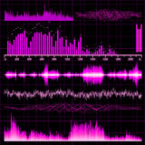 Sound waves set. Music background. EPS 10. Vector file included Stock Photos