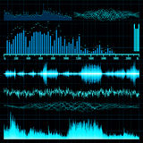 Sound waves set. Music background. EPS 10 Stock Photography