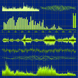 Sound waves set. Music background. EPS 10 Royalty Free Stock Image