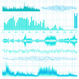 Sound waves set. Music background. EPS 10 Royalty Free Stock Photography