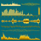 Sound waves set. Music background. EPS 10. Vector file included Stock Image