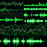 Sound waves set. Music background. EPS 10. Vector file included Royalty Free Stock Photos