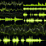 Sound waves set. Music background. EPS 10. Vector file included Royalty Free Stock Photo