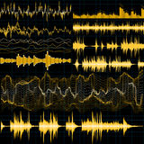 Sound waves set. Music background. EPS 10. Vector file included Royalty Free Stock Photography