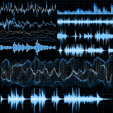 Sound waves set. Music background. EPS 10. Vector file included Stock Images