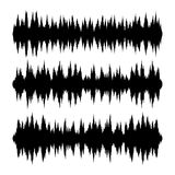 Sound Waves Set on White Background. Vector Royalty Free Stock Photos