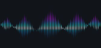 Sound waves. Technological sound rhythms royalty free illustration