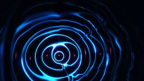 Sound waves in the dark. Sound waves in the visible blue color in the dark stock footage