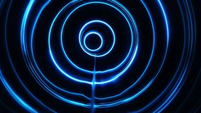 Sound waves in the dark. Sound waves in the visible blue color in the dark stock video