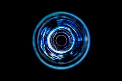 Sound waves in the dark. Sound waves in the visible full color in the dark Royalty Free Stock Photography