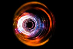 Sound waves in the dark. Sound waves in the visible orange color in the dark Royalty Free Stock Photos
