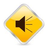 Sound yellow square icon Stock Photos