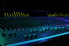 Soundboard. Large Format 40ch Sound Console with meter brigde Royalty Free Stock Photos