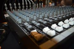 Soundboard-Bedienfeld lizenzfreie stockbilder