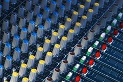 Soundboard do estúdio foto de stock