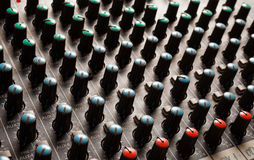 Soundboard knobs Royalty Free Stock Photos