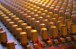 Soundboard-Mischer lizenzfreie stockfotografie