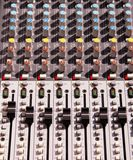 Soundboard mixer. Detail of the soundboard mixer Royalty Free Stock Photo