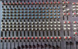 Soundboard mixer Royalty Free Stock Image