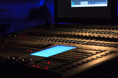 Soundboard. For music, electronic equipment Stock Images